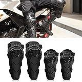 Rodilleras Moto Coderas Para Hombre - 4 Piezas Motocross Rodilleras de protección Coderas Motocicleta Equipo de protecciones para moto KTM BMW, Enduro , Carreras, Ciclismo (Negro)