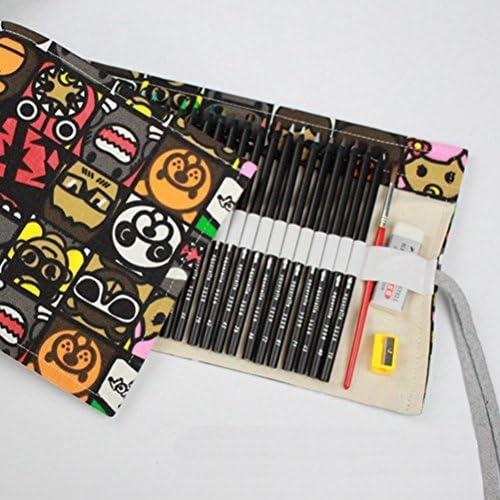 FuweiEncore Unisex 36 36 36 48 72 Holes Vintage Rolling Canvas Sacchetto di matita penna penna a sfera manuale (Coloreee   Come mostrato, Dimensione   36 buche) | Del Nuovo Di Arrivo  | La Qualità Del Prodotto  | The Queen Of Quality  9f5dd0