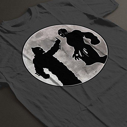 Batman Vs Iron Man Men's T-Shirt Charcoal