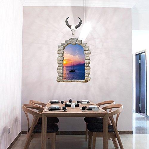 YUCH Le Paysage Plat Salon PVC Mur Mur Peut Déposer Les Stickers Décoratifs