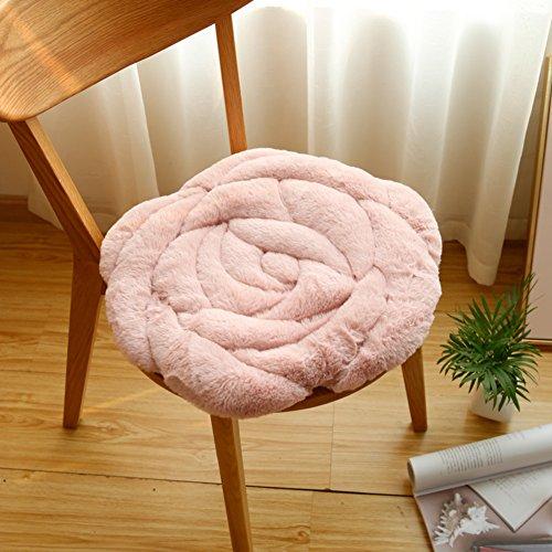 LJ&XJ Speisesaal stuhl kissen,Plüsch stuhlkissen warm sitzkissen thickened für büro stock erker student hocker bank kissen atmungsaktiv rose sofakissen-C 45x45cm(18x18inch)