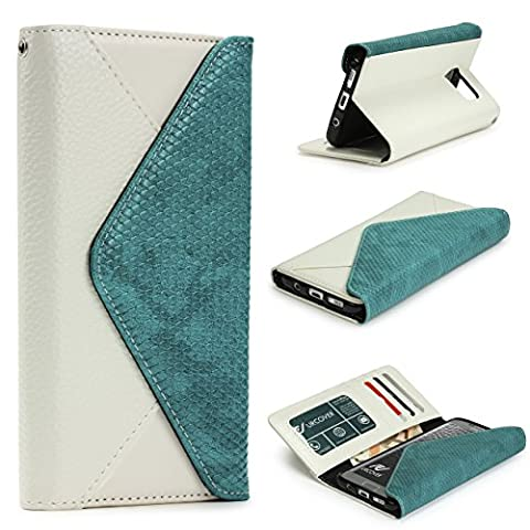Xperia Z5 Compact Housse Portefeuille Tout en Un, Urcover Pochette Chic Élégant Blanc Étui Sony Xperia Z5 Compact Coque Sac à main Téléphone