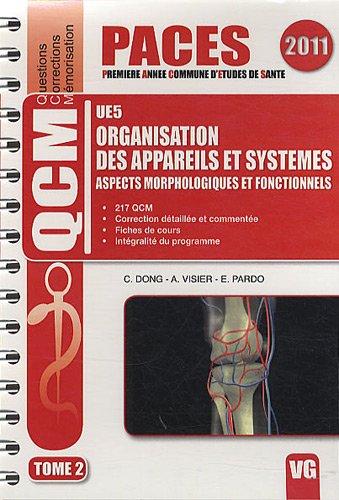 Organisation des appareils et systemes UE5 : Tome 2