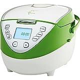 Loewe Multitalent Multikocher 900W 4 Liter Farbe: weiß/grün 41 Programme 110 Rezepte -Gesund und Fit ernähren - Energie sparen - kocht automatisch - 24 Std. Warmhaltefunktion - Multicooker Мультиварка Multivarka Multiwarka