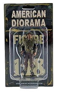 American Diorama-77416-Figura-WWII USA Military Police 3with Riffle-Escala 1/18-marrón/Beige