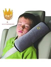 Koly Ajustador Resistente Protección del hombro almohada de seguridad del coche para niños (Gris)