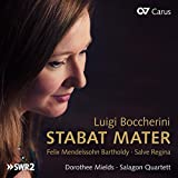 Boccherini : Stabat Mater. Mendelssohn : Salve Regina. Mields, Shalinsky, Quator Salagon.
