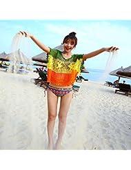 qxj playa sol vestido bikini Blusa corte Jersey Niña bañadores en verano Blusa, imagen, color