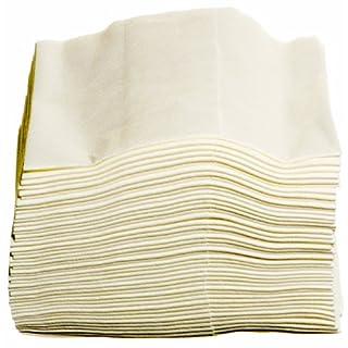 Yachticon 5 hochwertige Viskose Politurtücher reinigen mit original Tücher und Lappen. Weiß, lösungsmittelbeständig, saugstark, fusselfrei, saugstark, mehrfach verwendbar, Pflegetuch: 38 x 35 cm