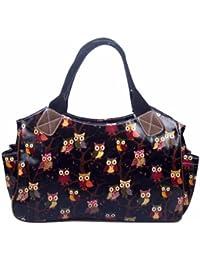 Miss Lulu Sac à main fourre-tout/sac de voyage en toile cirée pour femme Design vintage