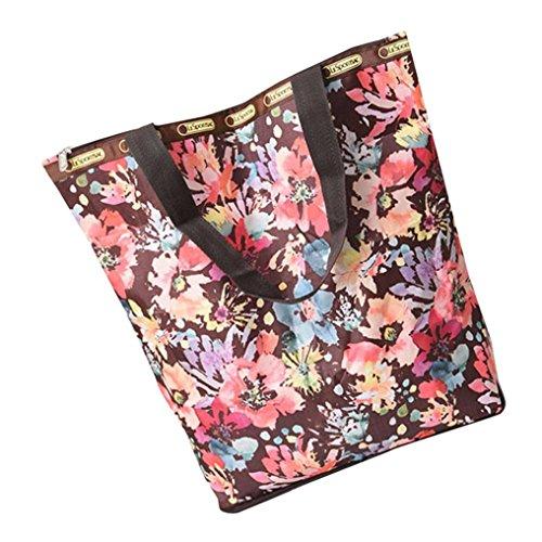 BZLine® Frauen Leinwand Große Kapazitäts-Segeltuch-Strand-Tasche Handtasche I
