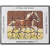 Schokoladen Puzzle Pferd, 5 Stück je 175g, Größe: 240x190x20 mm