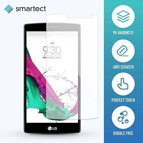 smartect® LG G4s / LG G4 Beat Premium Panzerglas Display-Schutzfolie aus gehärtetem Tempered Glass | Gorilla-Glas mit Härtegrad 9H | Panzerfolie - Top-Schutzglas gegen Kratzer (gerundete Kanten)