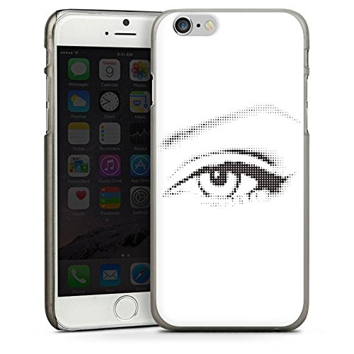 Apple iPhone 5s Housse Étui Protection Coque ¼il ¼il Graphique CasDur anthracite clair