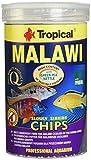 Aquatic Paradise Tropical Malaui Mbuna Chips Especial para Malaui Lentamente hundimiento - Alimentos multiingredientes para la alimentación Diaria 1000 ml/520 g