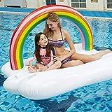 Letto Galleggiante Gonfiabile Gigante Dell'arcobaleno, Cuscino d'Aria di Galleggiamento della Piscina di Festa della Spiaggia Addensare PVC Sofa Lounger Bambino Adulto
