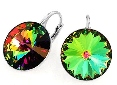 crystals-stones-rivoli-pendientes-14-mm-plata-925-con-cristales-de-swarovski-color-vitrail-medium