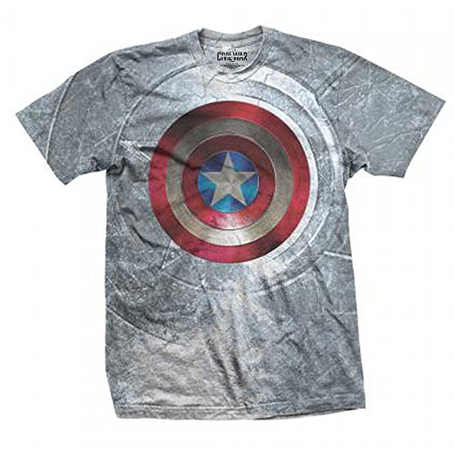 Captain america Marvel Comics Herren Premium T-Shirt - Shield Sublimation (S-XL) (M) (Black Panther Comic Kostüm)