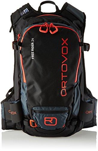 Ortovox Free Rider 24, Mochila Unisex Adulto, Negro (Black Raven), 24x36x45 cm (W x H x L)