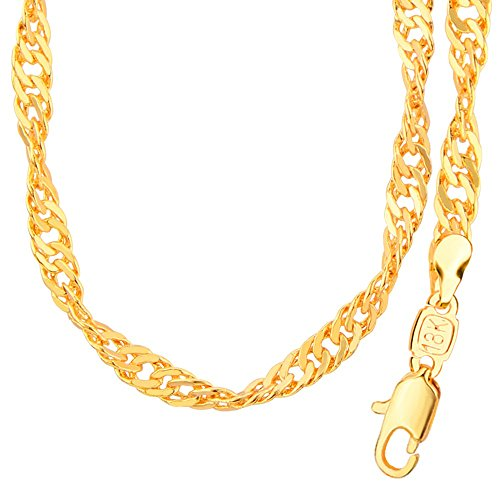 fashion-jewelry-18k-gold-plated-chains-necklace-with-simple-unique-design-for-men-women-gift-n50140