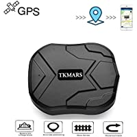 TKMARS 905 Vehicle Car GPS Tracker Tracking Device, Real Time Positioning GPS with Strong Magnets 90 Days Long Standby GPS Tracker Car Truck Bike GPS Tracking Seniors for Free APP