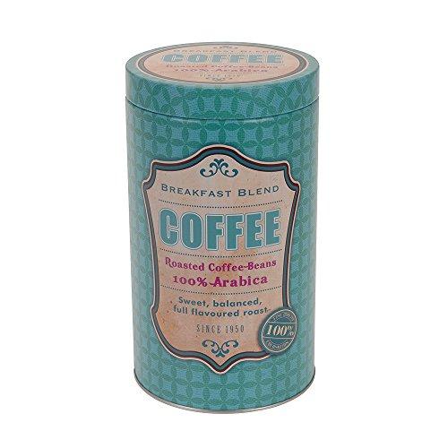 Kaffeedose Aufbewahrungsdose, Vintage Design (11x19cm), Blau