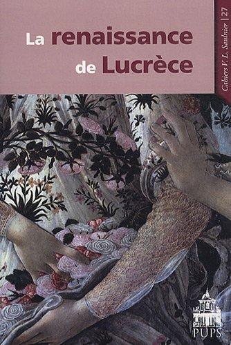 La renaissance de Lucrèce