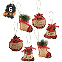 6 Ornamentos de Decoración para Árbol de Navidad – Accesorio Decorativo de Temporada para el Hogar