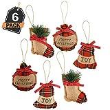6 Ornamentos de Decoración para Árbol de Navidad – Accesorio Decorativo de Temporada para el Hogar – Detalle para Cajas de Regalo - Actividad de DIY Bricolaje – Arte y Manualidades – Adorno Navideño