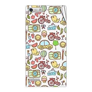 Garmor Designer Mobile Skin Sticker For Huawei C199 - Mobile Sticker