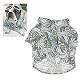 Meioro Ropa para Mascotas Ropa para Perros Cómoda Camisa de Perro Estilo Hawaiano Estilo de Vida Costera...