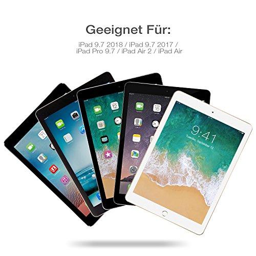 huge discount 80649 cfae1 Günstig OMOTON Abnehmbare Bluetooth Tastatur Hülle, Deutsches Layout ...