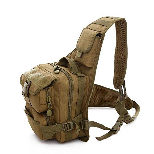 ELEAR® Multifunktions Outdoor Casual Brusttasche Umhängetasche Brusttasche im Freien taktisches Rucksack Bodybag Rucksack Schwarz