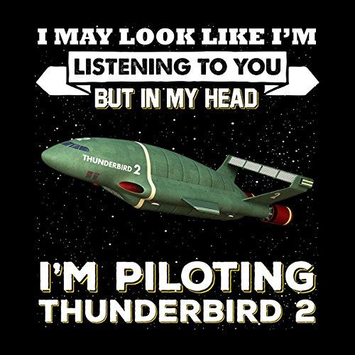 I May Look Like Thunderbird 2 Thunderbirds Women's Hooded Sweatshirt Black
