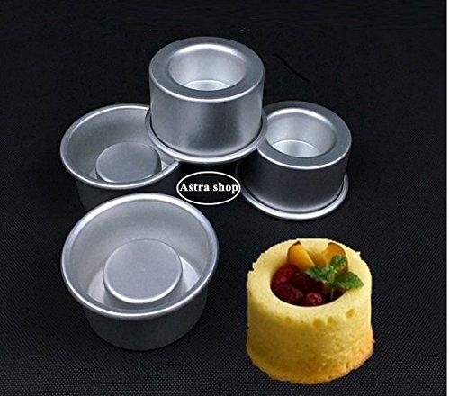 ini Kuchen Backformen Set von 4-für Sie gefüllte Kuchen mit Hohl Centern/einzigen dienen Mini Backformen/Backen Geschenk/Holiday Dessert/Single Kuchen ()