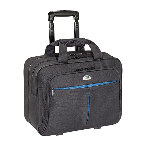 PEDEA Business Laptop-Rollkoffer Premium-Air Trolley Rollkoffer Koffer Reisekoffer Tasche inkl. Fach für Notebooks bis 17,3 Zoll (43,9 cm), schwarz