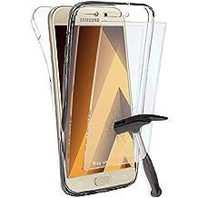 Coque Gel Samsung Galaxy A3 2017 , Buyus Coque 360 Degres Protection INTEGRAL avec VERRE TREMPE Ecran , Etui Ultra Mince Transparent INVISIBLE pour Galaxy A3 (2017) A320 , Coque A3 2017
