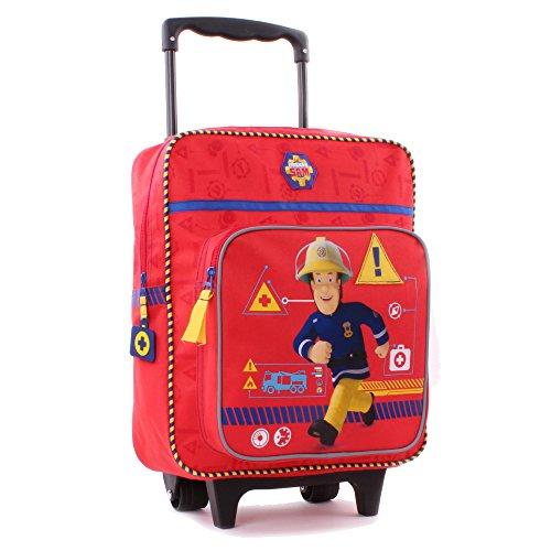 Feuerwehrmann Sam 900–8348Service Reise Trolley mit Rucksack, 35cm (Kid Rädern Rucksack Mit)