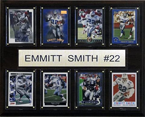 NFL Emmitt Smith Dallas Cowboys 8 Card Plaque