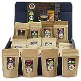 C&T Kaffee-Geschenkset Bio/Fair 24 Päckchen á 35 g (Ganze Bohnen) 2018 mit 24 Biologischen, Raritäten- und Fair gehandelten Kaffees plus Überraschung | Weihnachts-geschenk | Geschenkbox