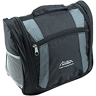Andes Large Mens/Ladies/Unisex Camping Travel Toiletry Hanging Deluxe Wash Bag