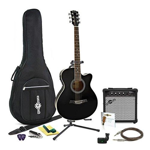 Chitarra elettroacustica a cutaway singolo + kit completo Gear4music