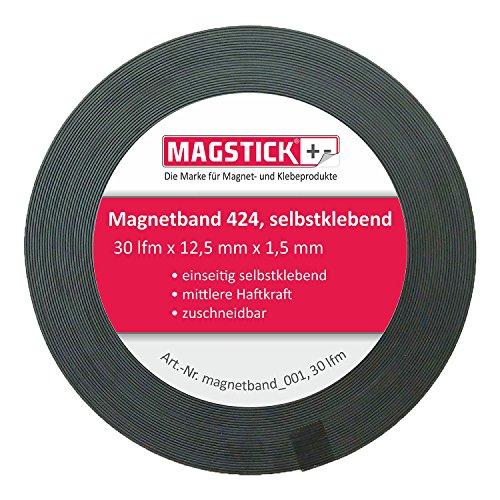 30 Meter Magnetband selbstklebend Magstick® 424 I Magnet-Klebeband zuschneidbar für Haushalt Büro Steelbook Stanzschablonen I magnetband_001