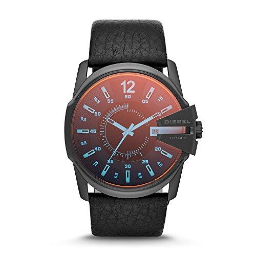 Diesel Herren-Uhren Rund Analog Quarz One Size Leder 86435284