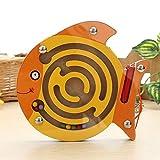 DARLINGTON & Sohns Piccolo Pesce Labyrinth Palla abyrinth Gioco di abilità in Legno Bambini abilità motorie Viaggio Gioco di abilità motorie Gioco