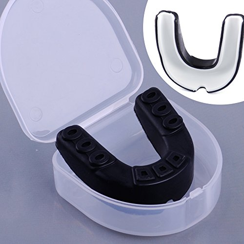 JDUANL Gum Shield Boxing Mouth Guard Tooth Protector Tooth Protector Silicone  Black