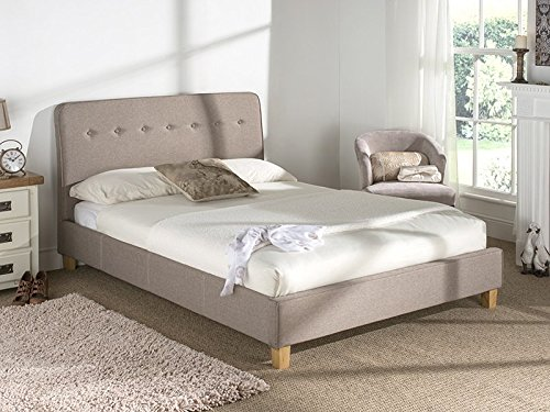 Snuggle Beds Luca (Oat) 5' King Size Fabric Beds
