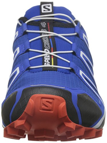 Salomon Speedcross 4, Chaussures de Trail Homme Bleu (Blue Yonder/Black/Lasa Orange)