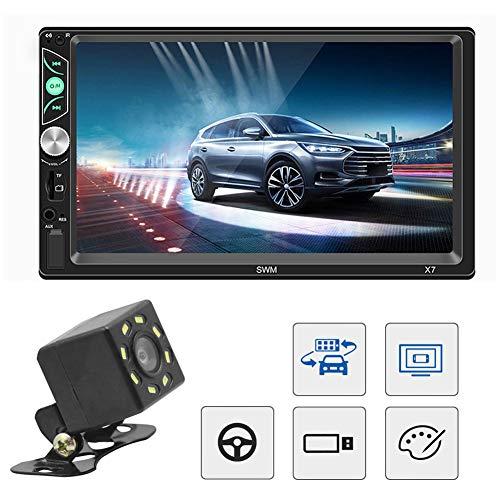 """housesweet 7\""""Media Receiver Doppel-Din-Autoradio mit Bluetooth, Radio-Touchscreen, Rückfahrkamera und Lenkradfernbedienung"""