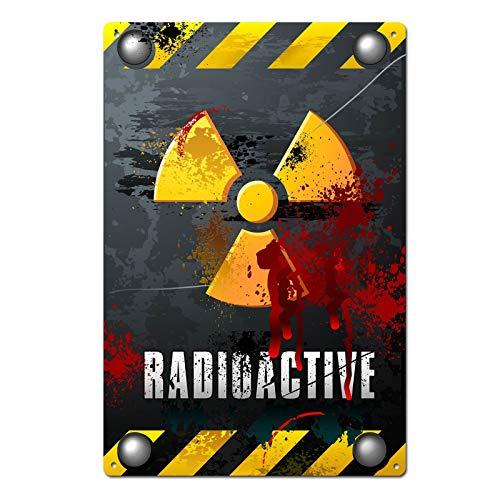 Bloody Radioactive Zombie Tin Sign Metal Sign Metal -